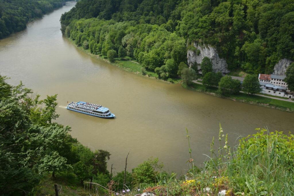 Donaudurchbruch Radweg am Ufer: Nördlich der Donau führt auch ein Radweg. Allerdings nicht bis Weltenburg!