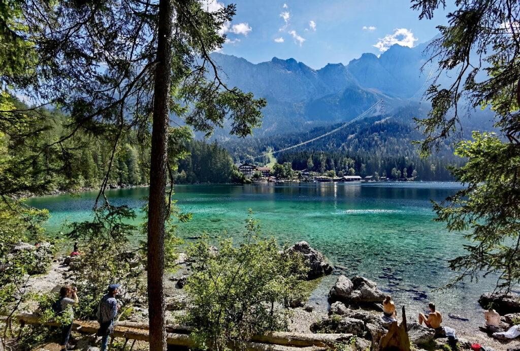 Der Eibsee - unser Zwischenstopp auf dem Weg ins Zugspitz Resort Ehrwald