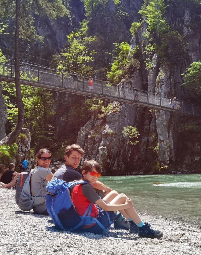 Kurzweilige Wanderung über die Hängebrücke in der Entenlochklamm