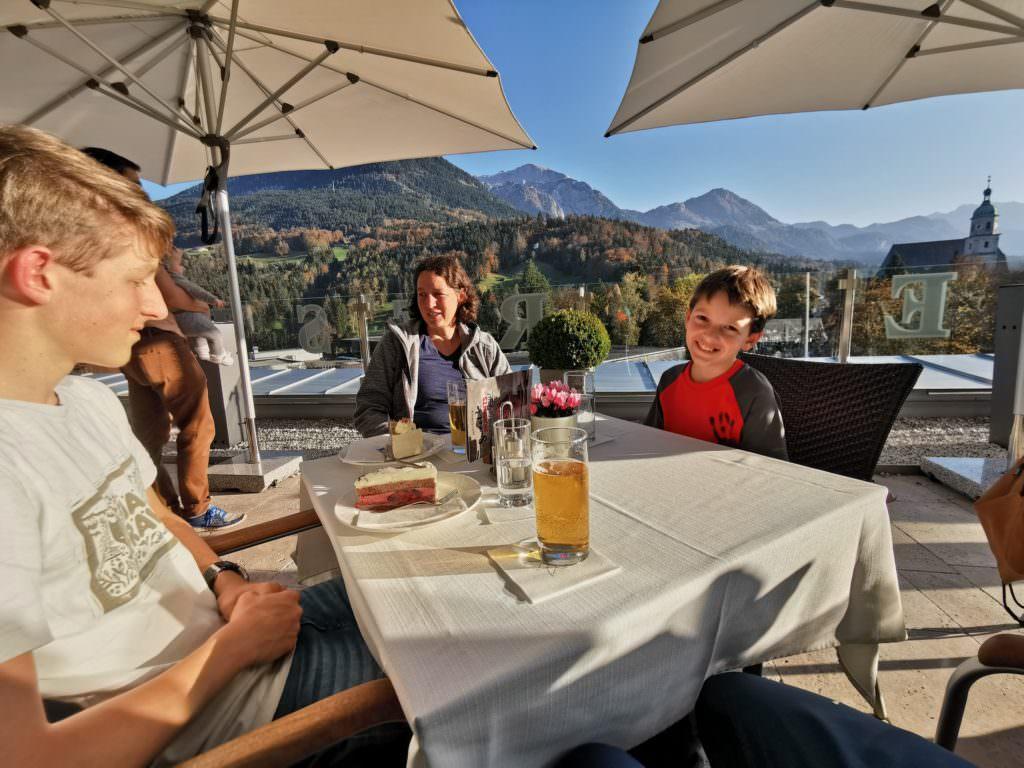 Familienhotel Berchtesgaden mit der schönen Dachterrasse
