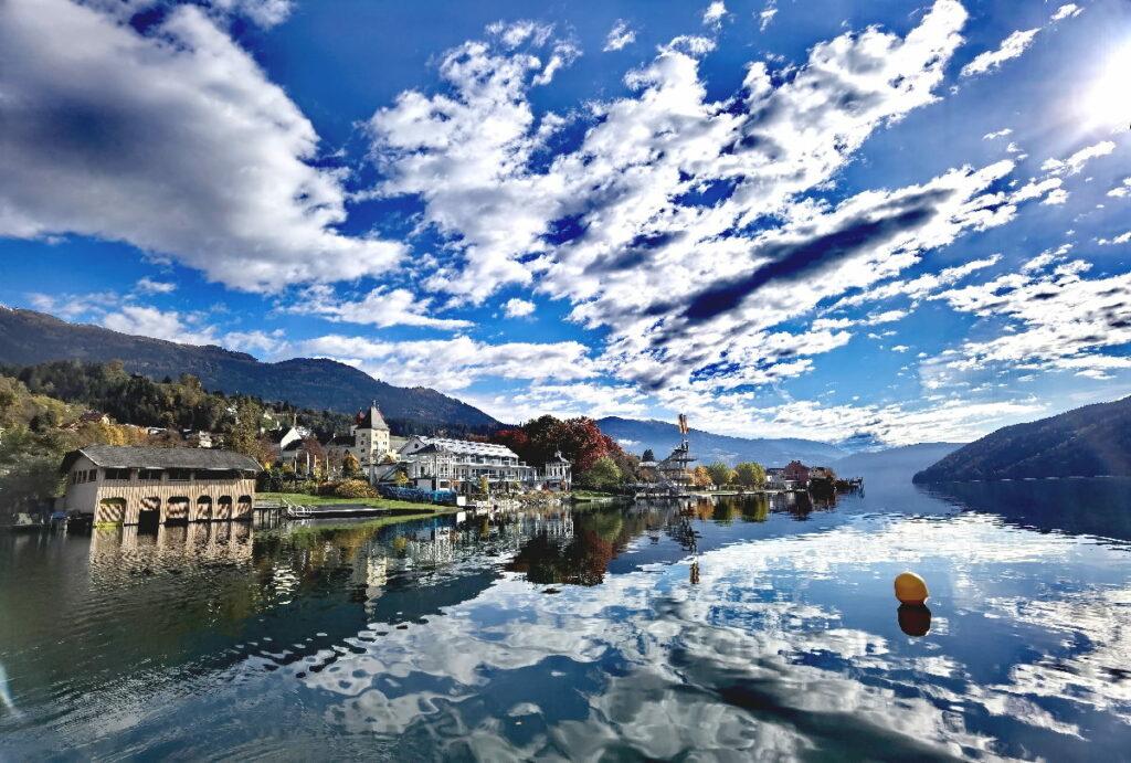 Traumhaft schöne Ausblicke bei unserer Überfahrt über den Millstätter See