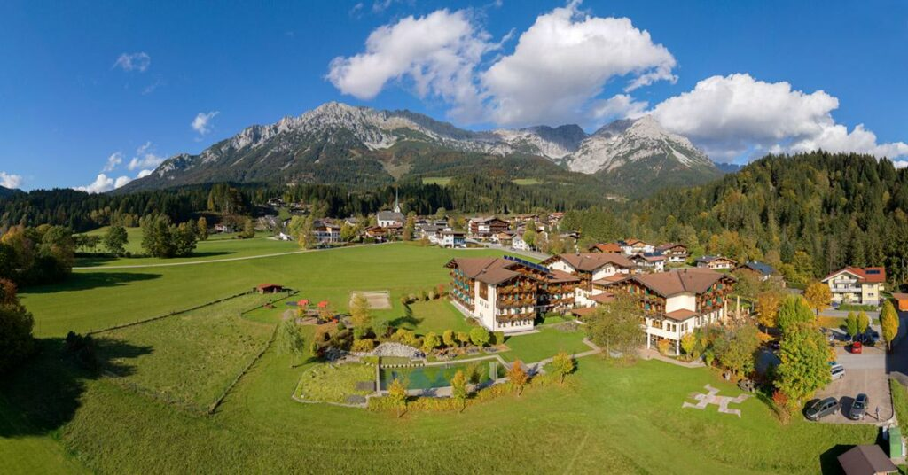 Wilder Kaiser wandern mit Kindern - Ausgangspunkt ist das Hotel Kaiser in Scheffau