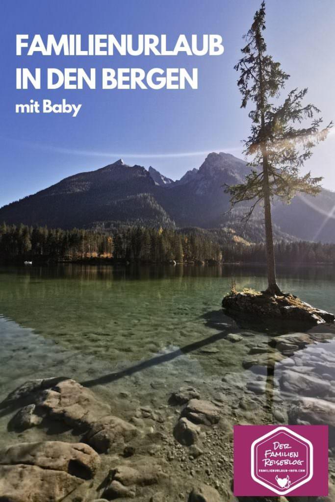 Familienurlaub in den Bergen mit Baby - um diesen See kannst du mit Kinderwagen spazieren!