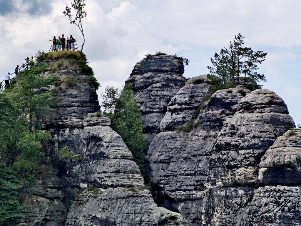 Bastei wandern mit Kindern - zum Aussichtspunkt Ferdinandaussicht