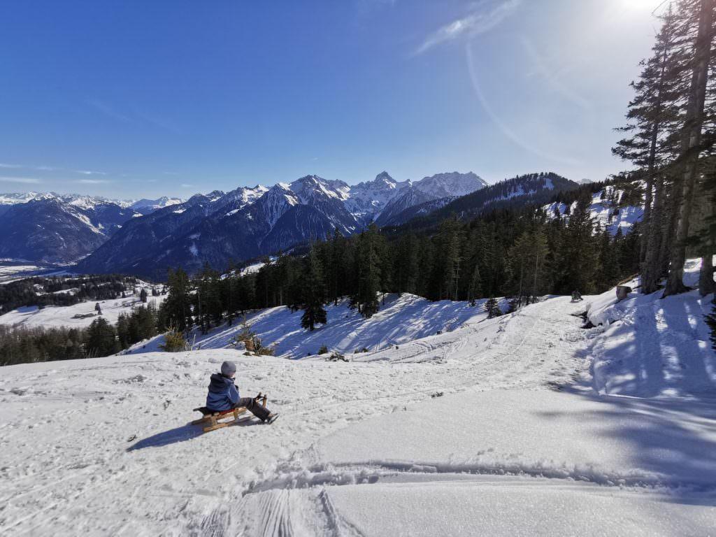 Die Aussicht auf der Furkla Alpe Rodelbahn