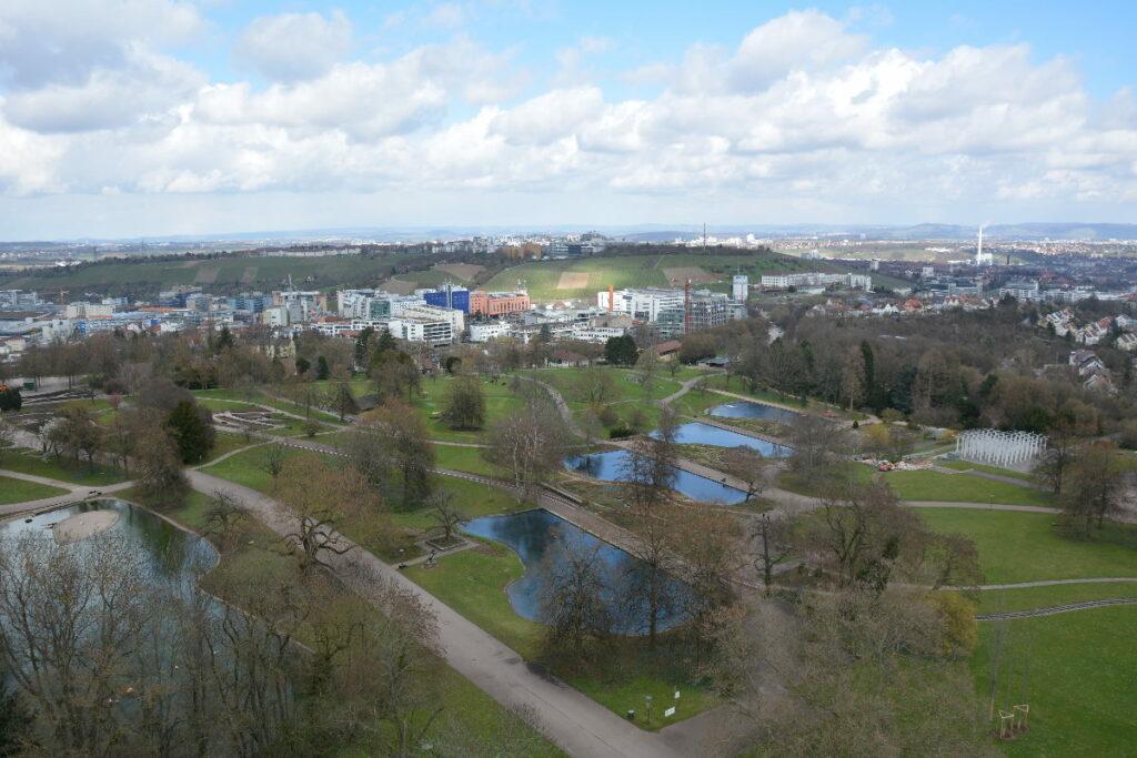 Stuttgart mit Kindern - Ausflug zum Aussichsturm am Killesberg: Das ist der Blick von oben