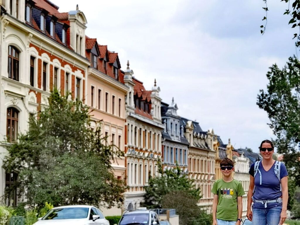 Görlitz mit Kindern - auf unserem kleinen Stadtrundgang kommen wir an vielen prächtigen Hausfassaden vorbei