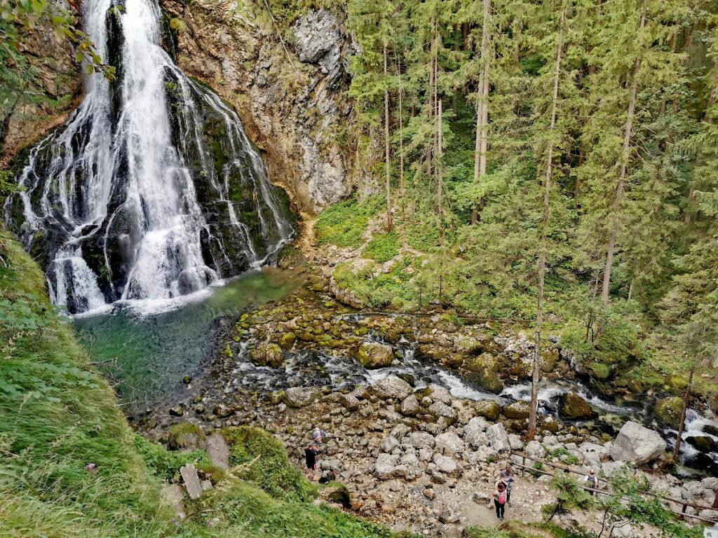 Der Gollinger Wasserfall von oben gesehen