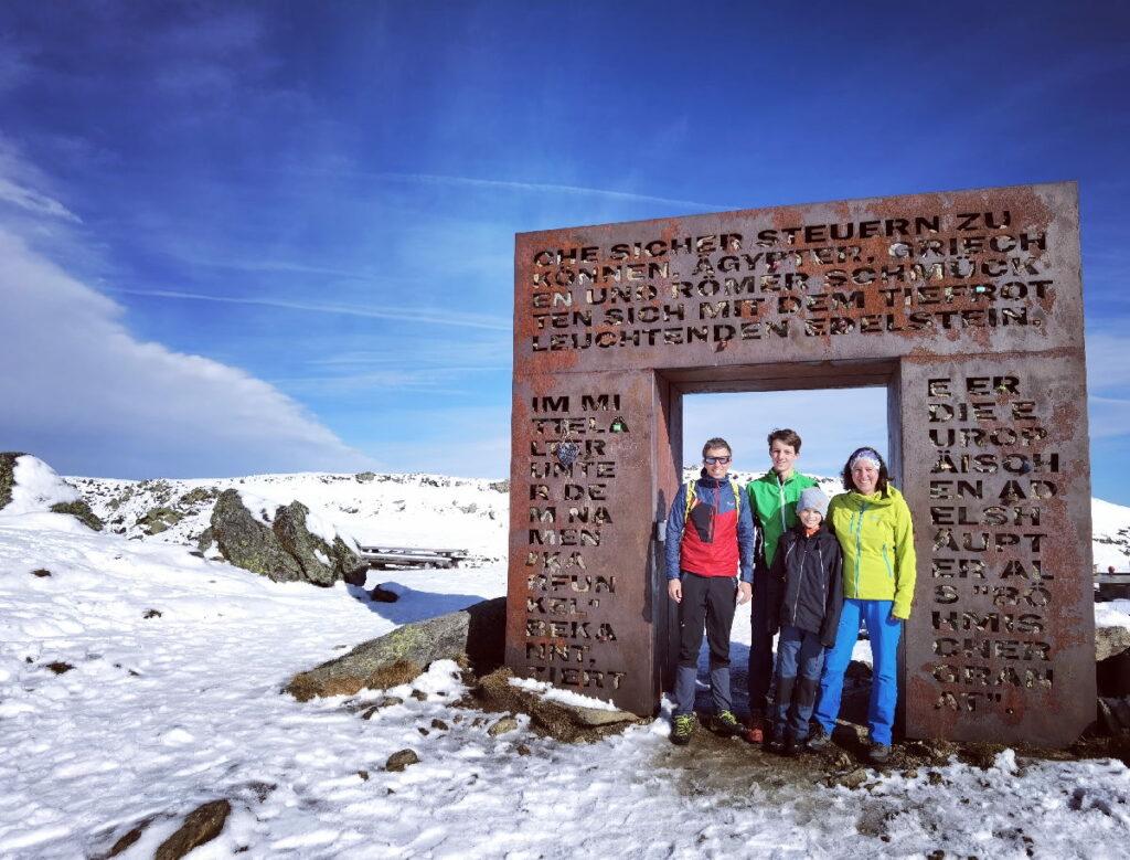 Unsere Granattor Wanderung im Spätherbst - mit dem ersten Schnee am Gipfel