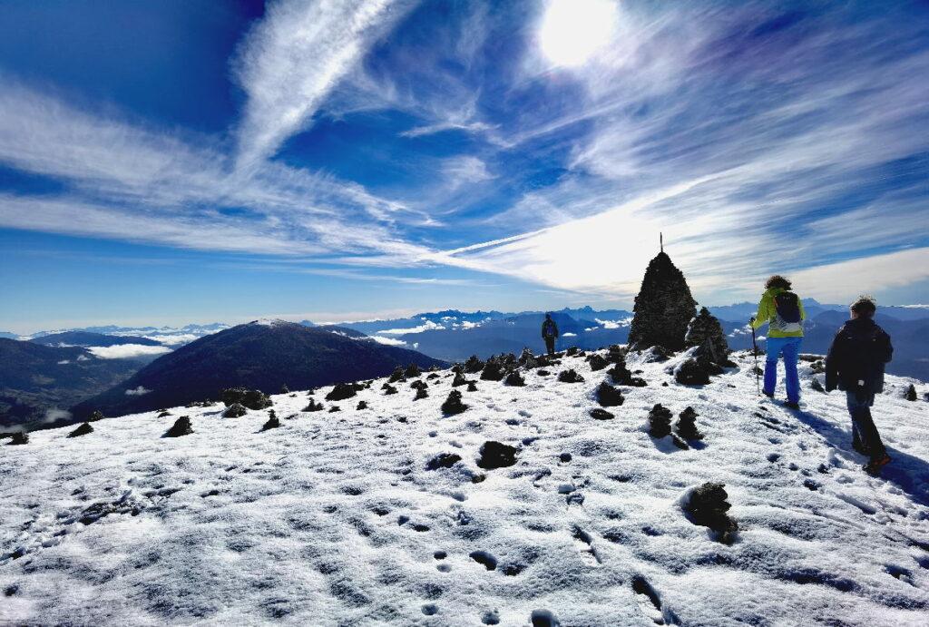 Am Stoana Mandl - das große Steinmandl auf dem Berg, von hier ist es nicht mehr weit zum Granattor