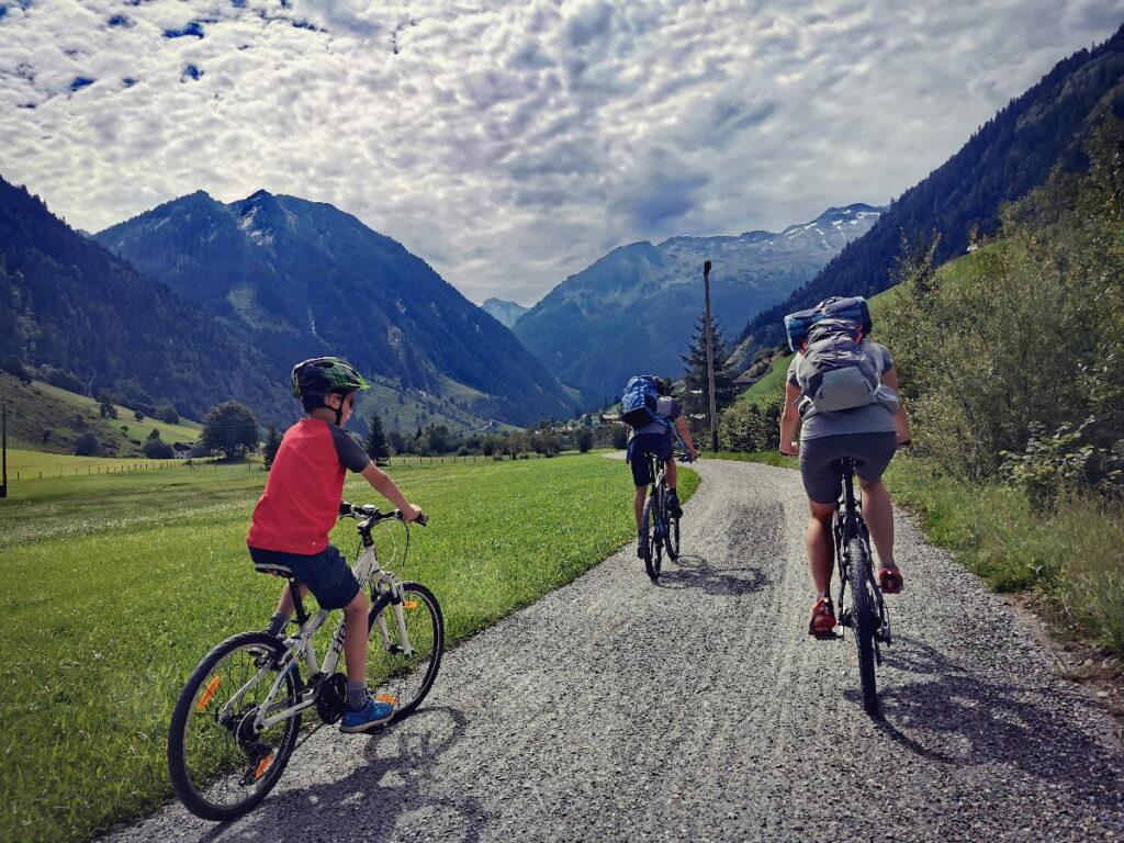 Mit dem Fahrrad durch das Großarltal - ohne große Steigungen bis zum Talschluß