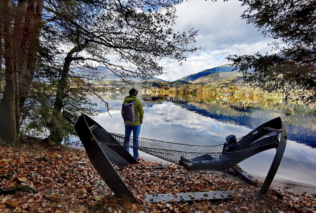 Zuerst am Millstätter See wandern - dann in der Hängematte ausruhen