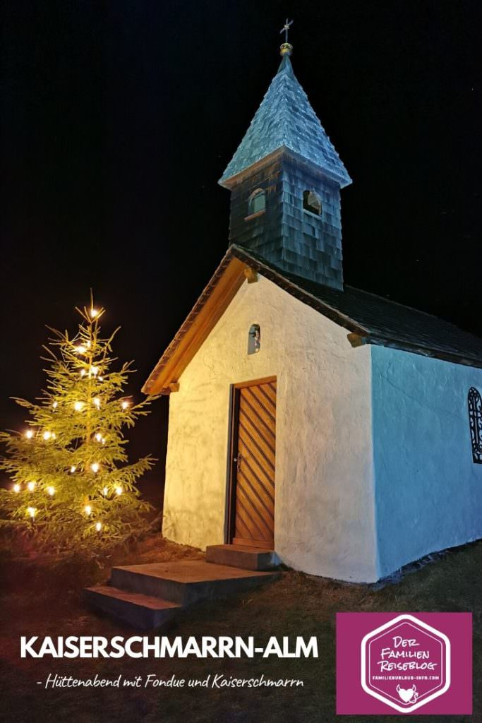 Der Hüttenabend Garmisch geht zu Ende - auf dem Rückweg kommen wir an dieser Kapelle vorbei