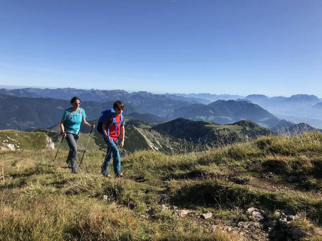 Herbsturlaub mit Kindern - ideal zum Wandern in den Bergen!