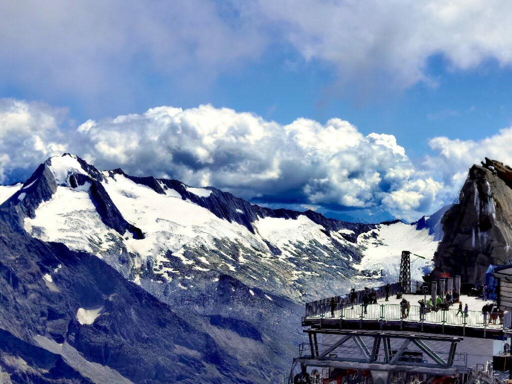 Die Panoramaterrasse am Hintertuxer Gletscher