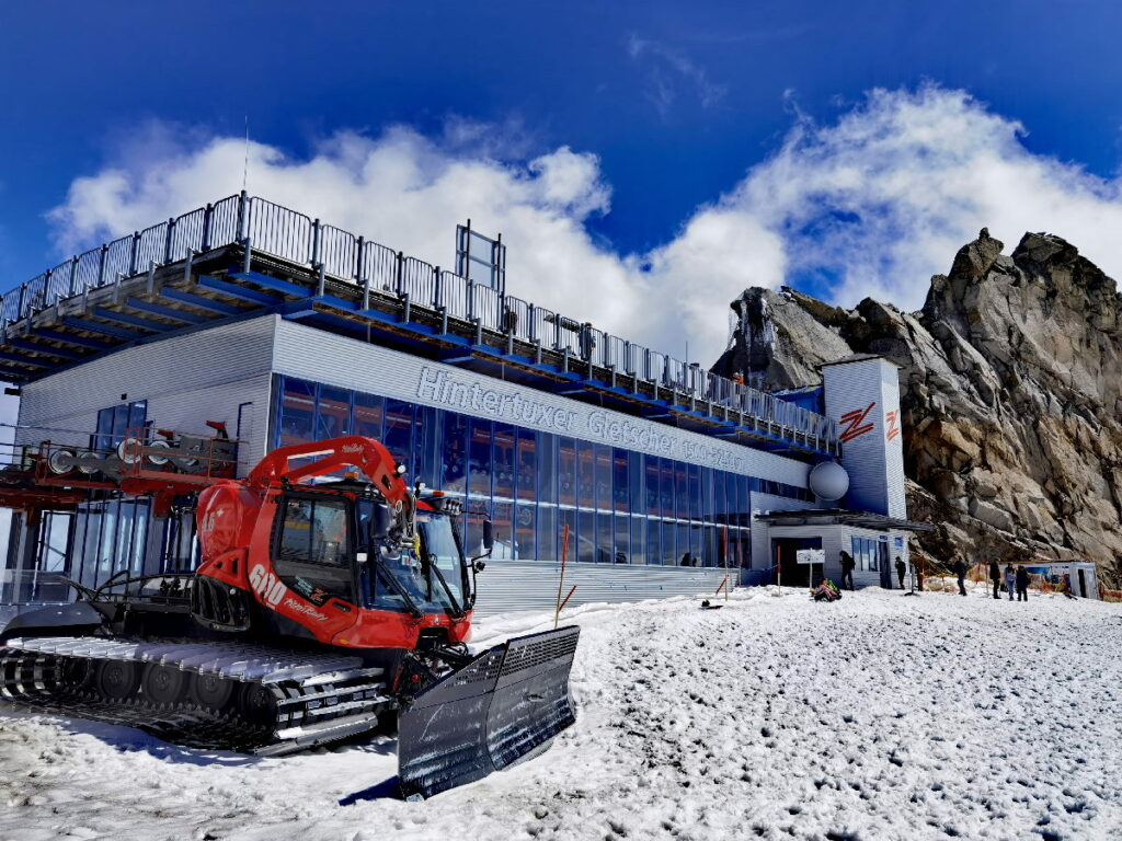 Dein Ziel am Hintertuxer Gletscher - bis hier hin kommst du mit der Gondel