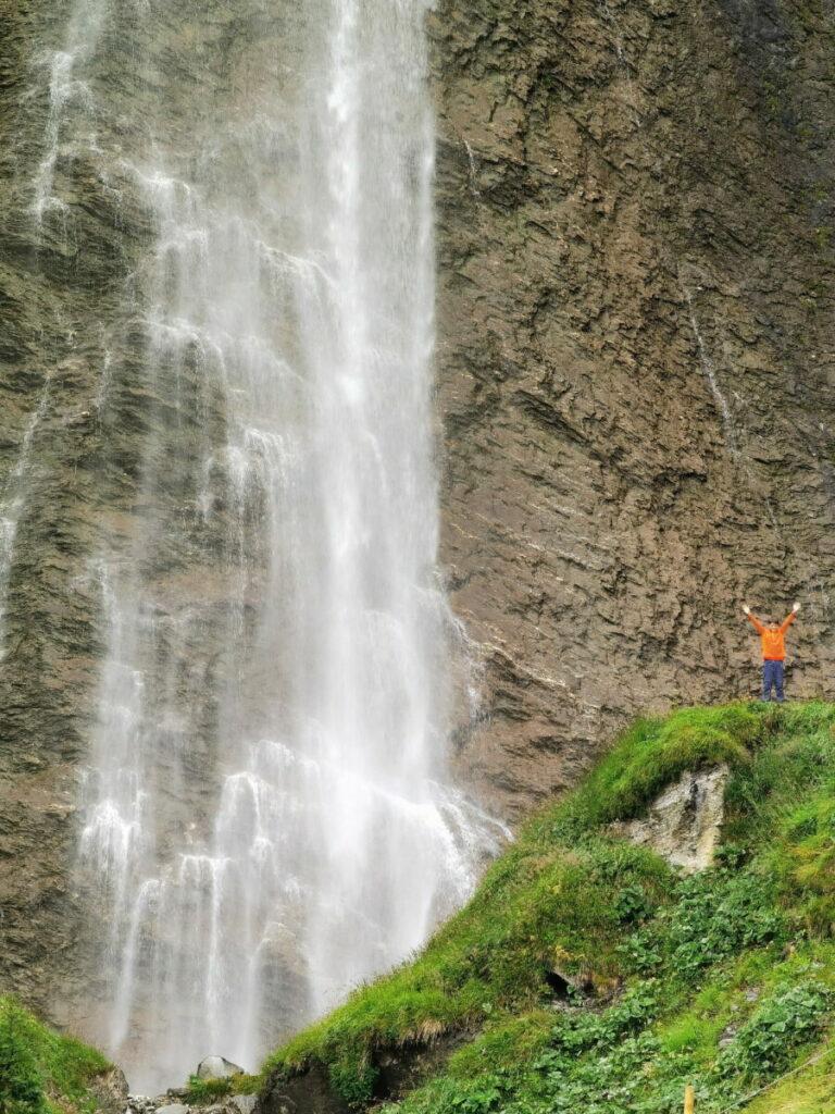 Noch mehr Wasserfälle im Zillertal: Haushoch - im Vergleich zu uns Menschen!