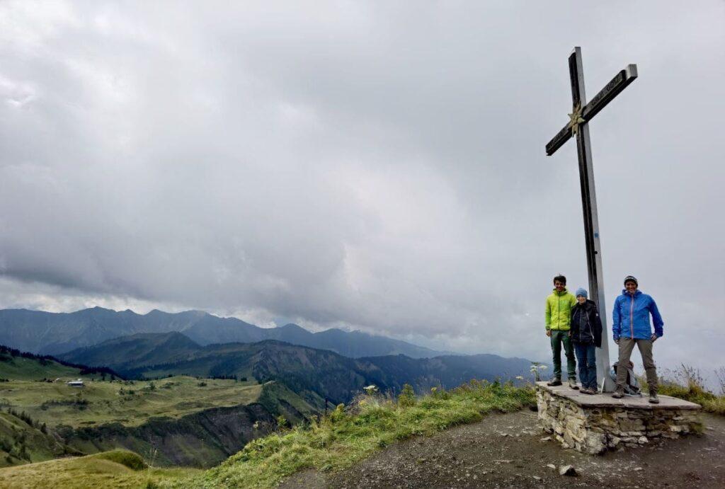 Hoher Freschen (2004 m) - toller Gipfel in Laterns, für uns leider mit viel Wolken
