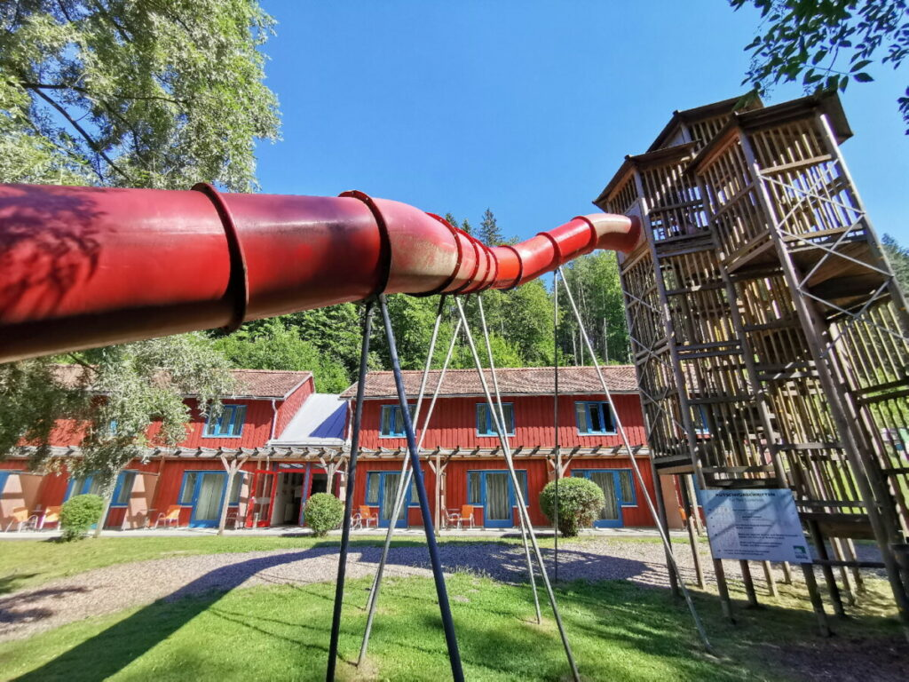 Das JUFA Hotel in Bruck an der Mur - mit der Rutsche geht´s fast bis ins Familienzimmer!