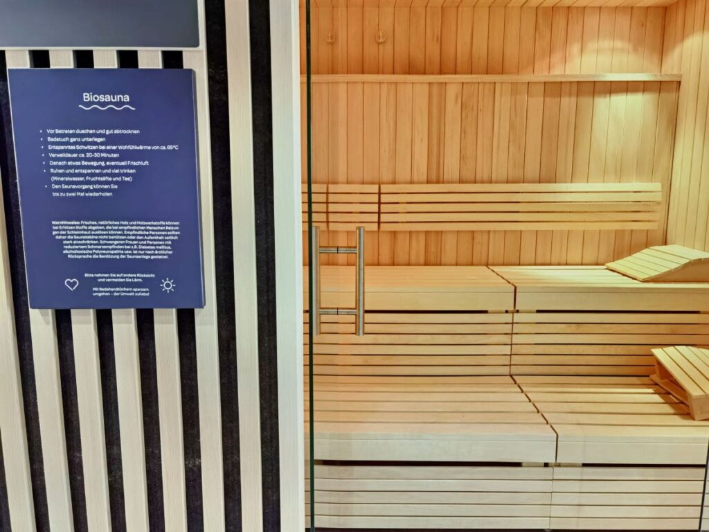 Die angenehme Saunawelt im JUFA Laterns