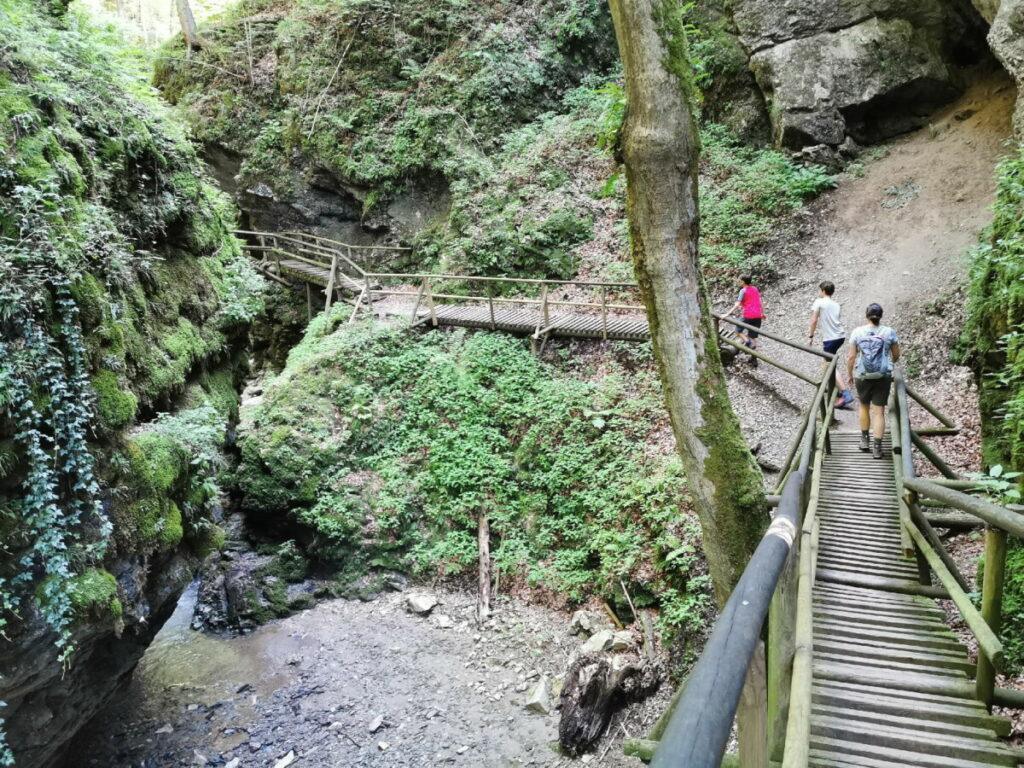Der obere Bereich der Klammwanderung in der Steiermark