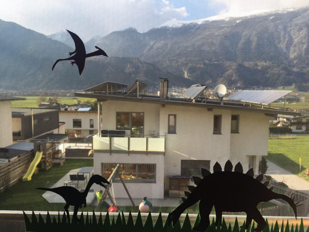 Kinderbeschäftigung - Fensterbild Dinosaurier