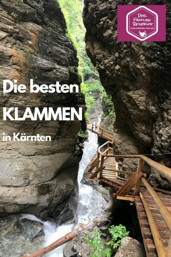 Klamm Kärnten - entdecke die schönsten Klammen!