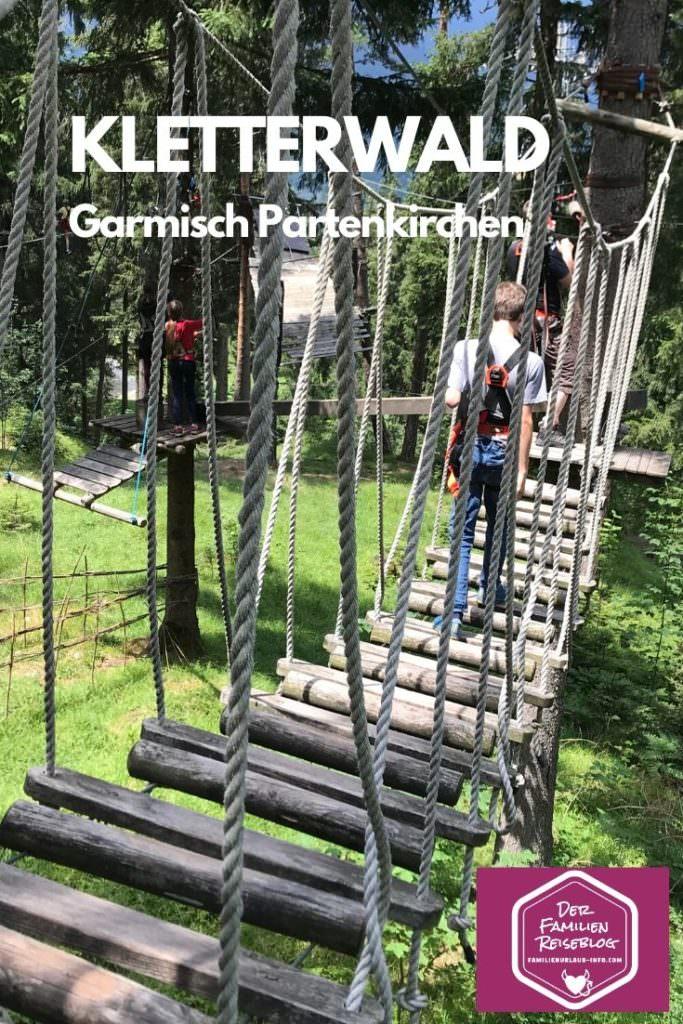 Unser Tag im Kletterwald Garmisch Partenkirchen mit Kindern