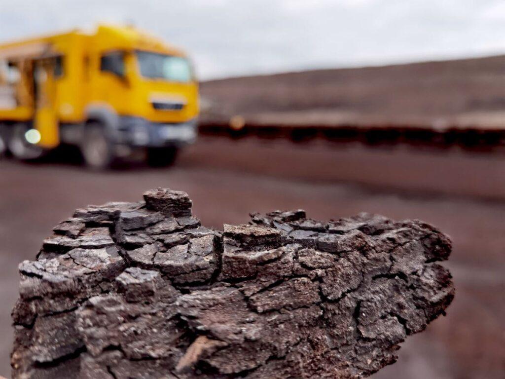 Kohletagebau Lausitz Besichtigung - mit dem Mannschaftswagen direkt zum Kohleflöz
