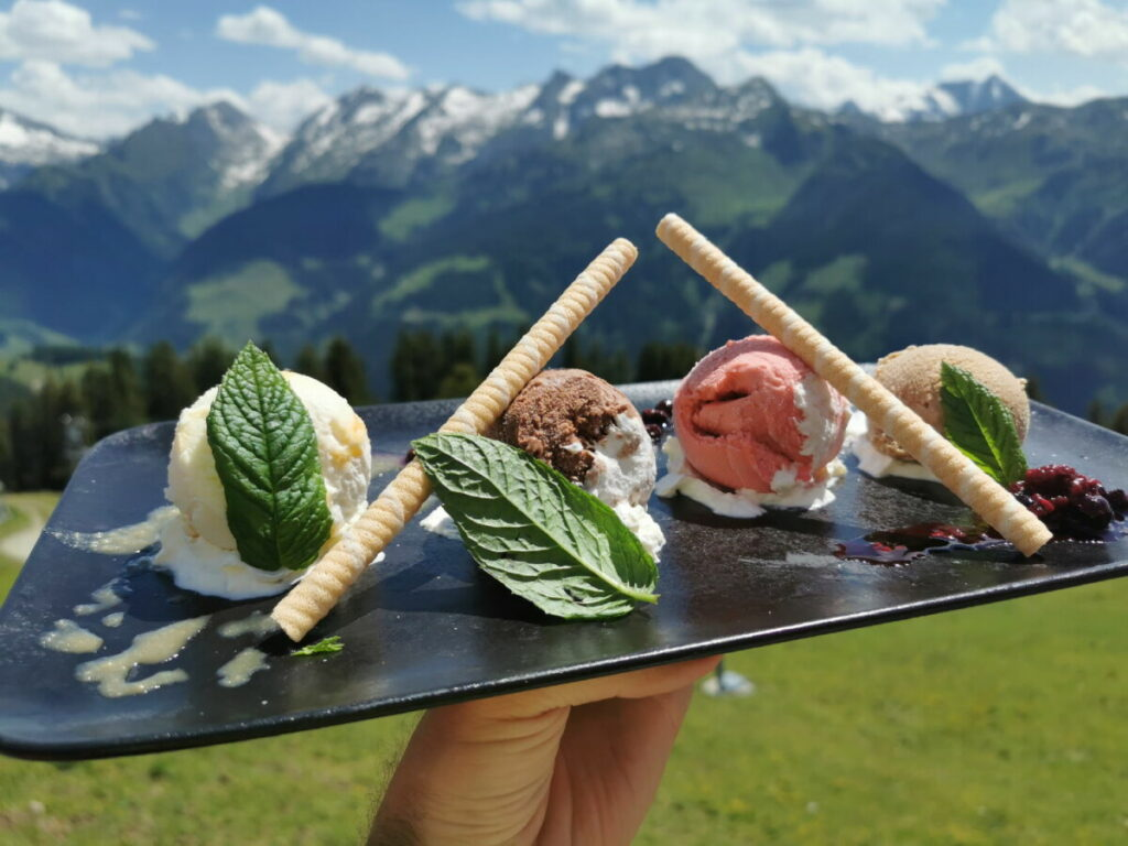 Traumhafter Nachtisch: Das selbstgemachte Kreuzwiesenalm Eis