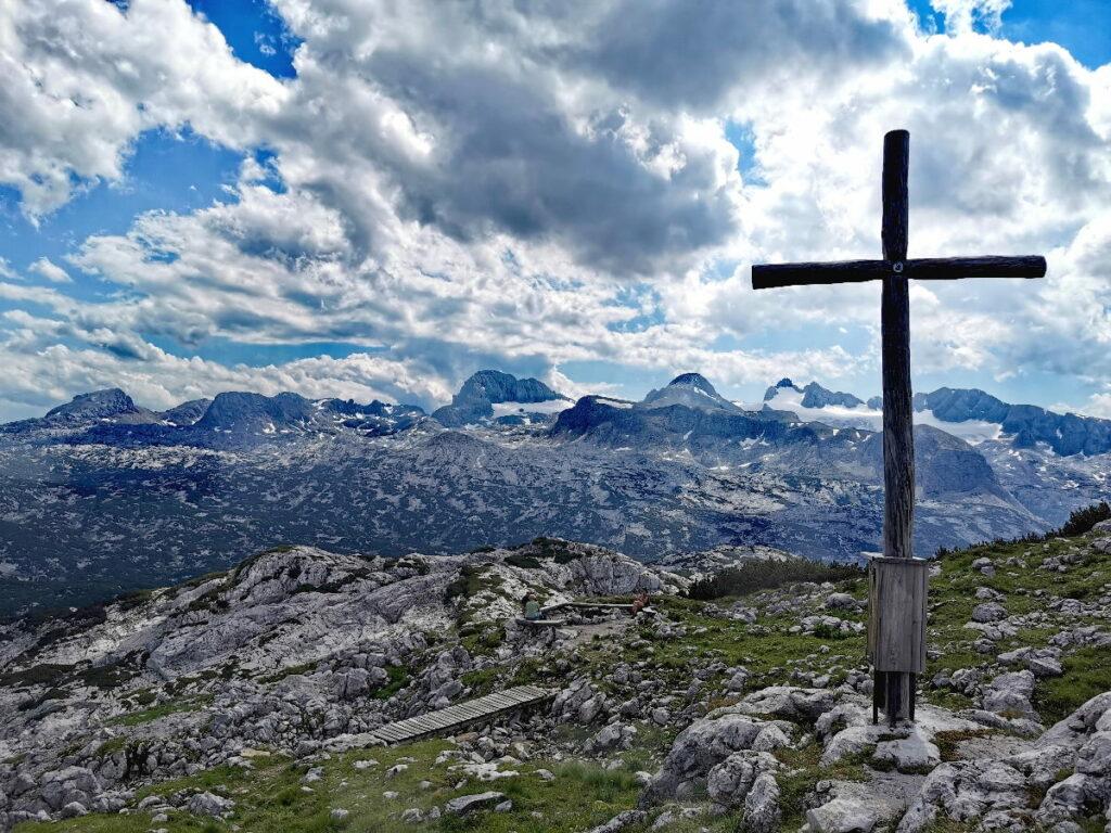 Viel Aussicht am Krippenstein - hier kannst du direkt zum Dachstein Gletscher schauen