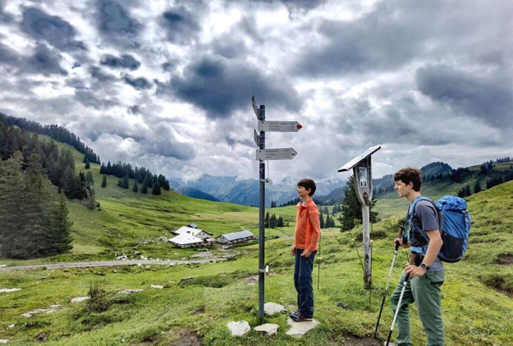 Laterns wandern - von Saluver Alpe zum Hohen Freschen