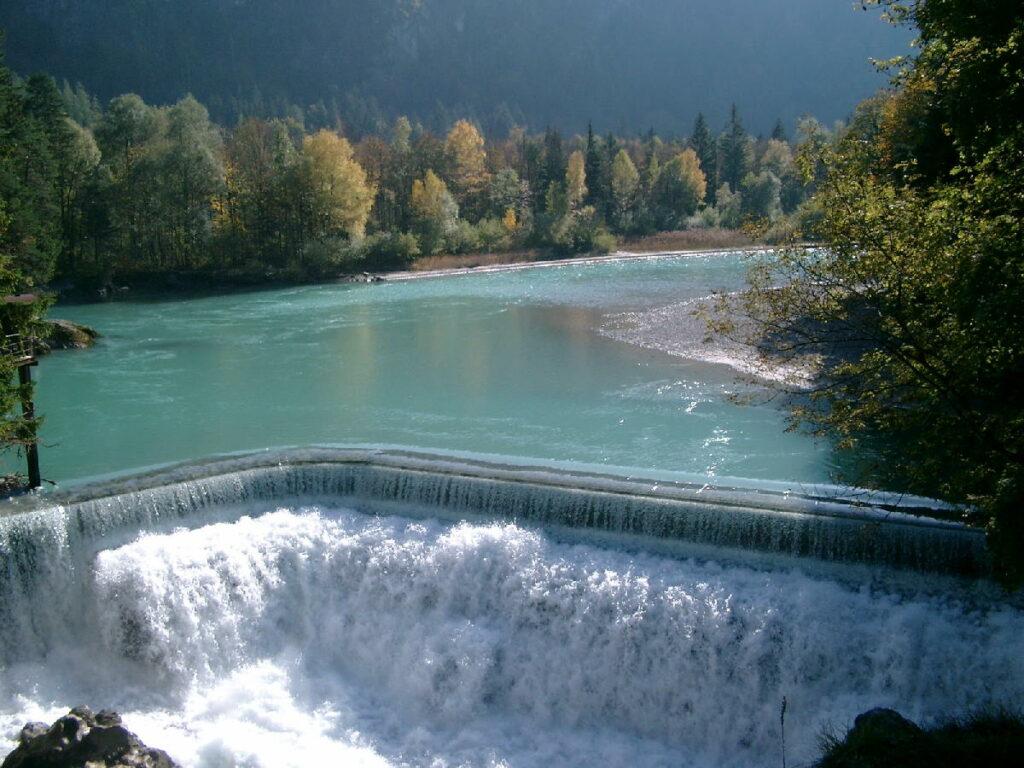 Besuch beim Lechfall in Füssen