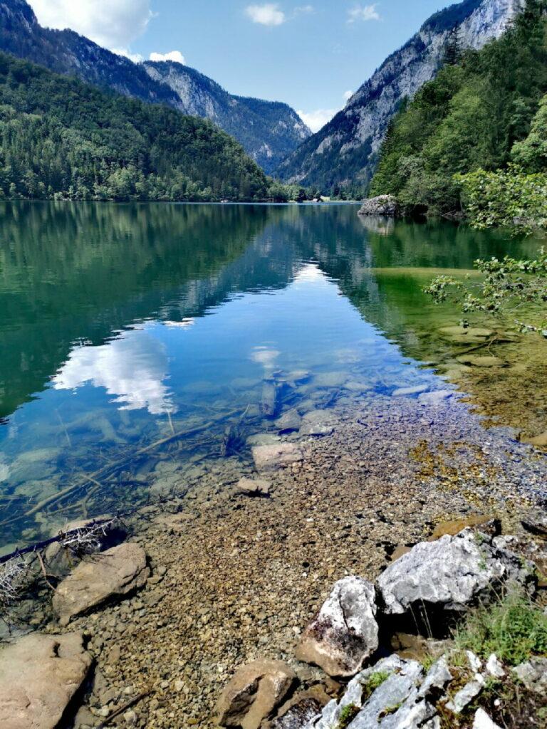 Das ist der Leopoldsteiner See in der Steiermark