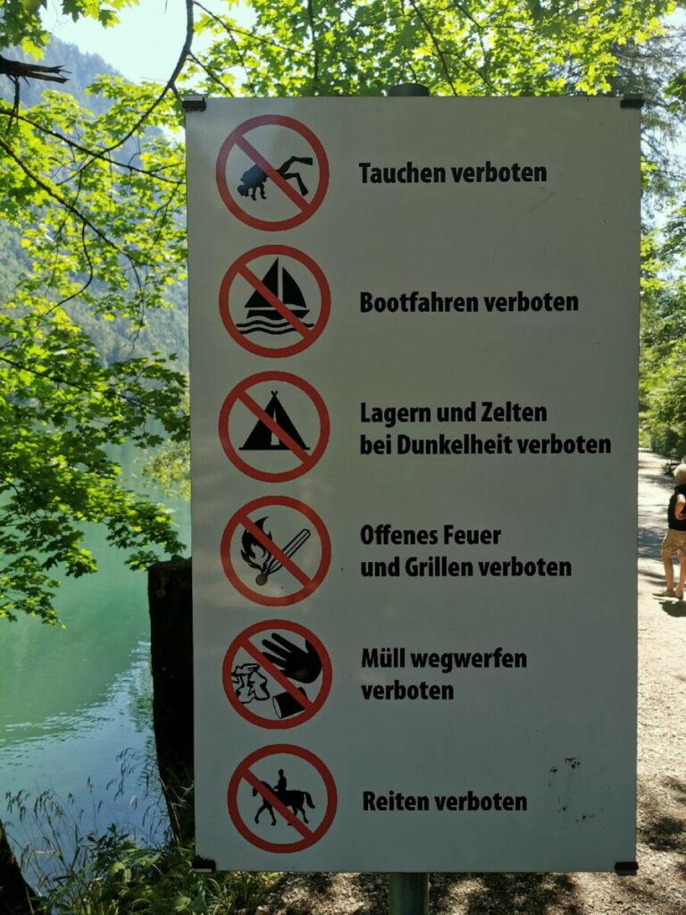 Leopoldsteiner See Camping ist verboten