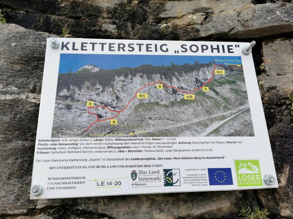 Der Loser Klettersteig Sophie