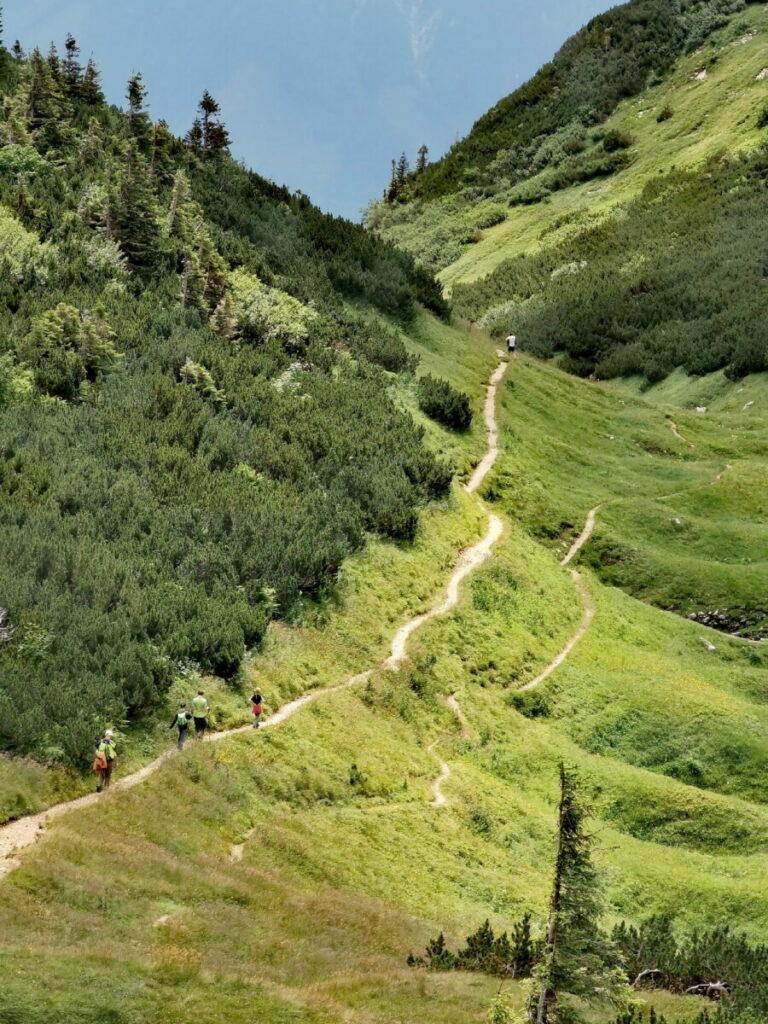 Die Loser Wanderung führt über schöne Wanderpfade