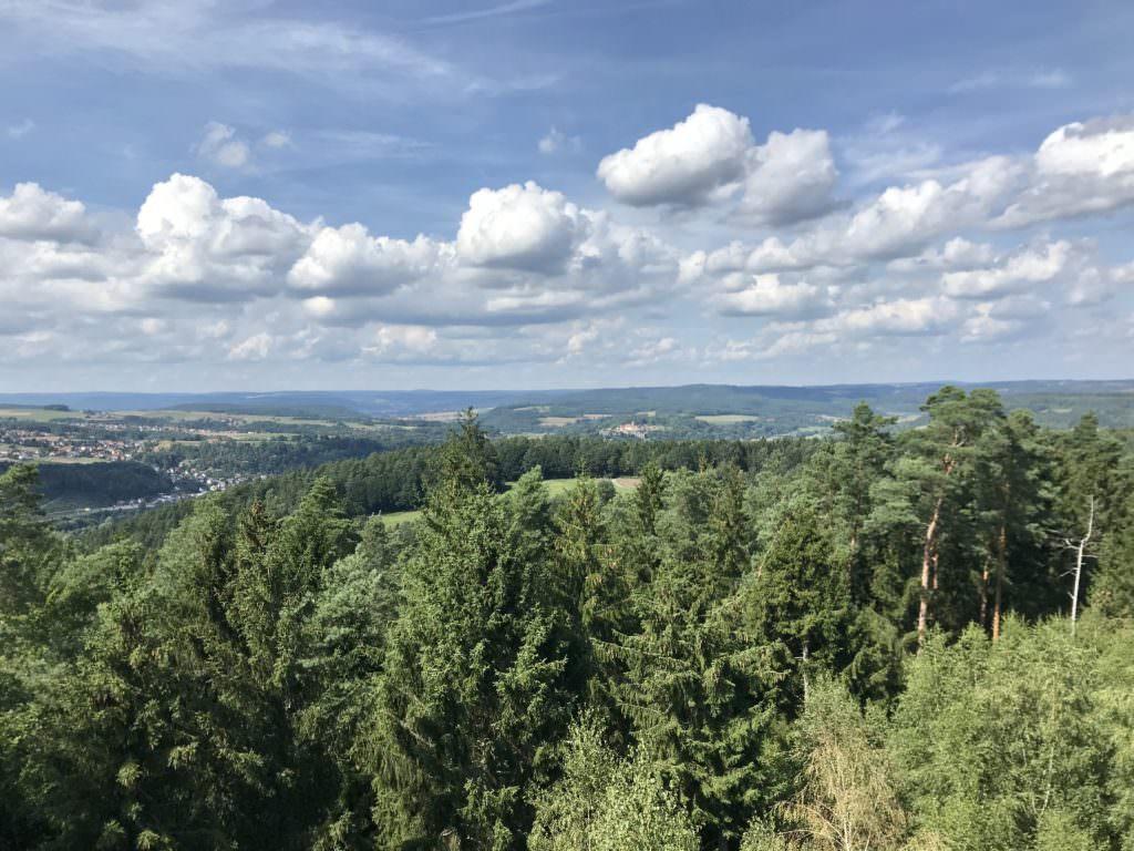 Das ist die Aussicht auf dem Lucas Cranach Turm