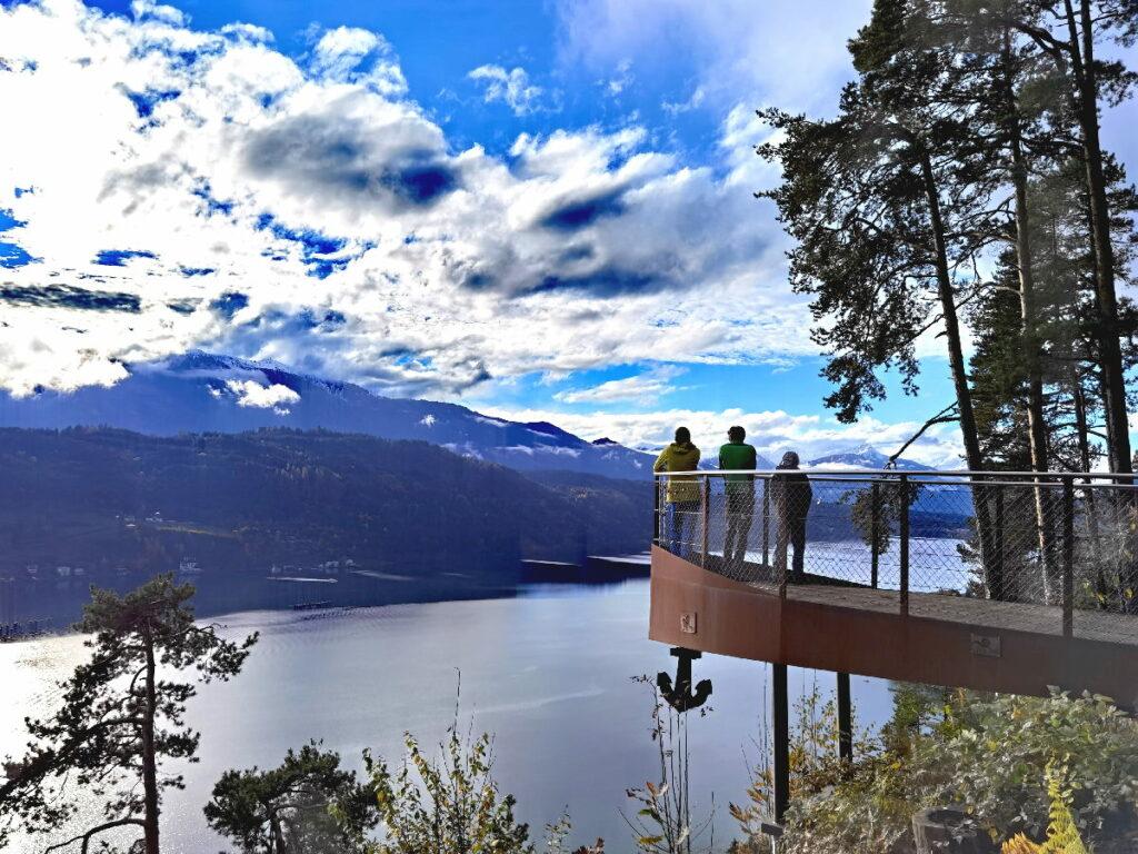 Zur Aussichtsplattform am Millstätter See wandern - leicht und zu wandern mit Kindern