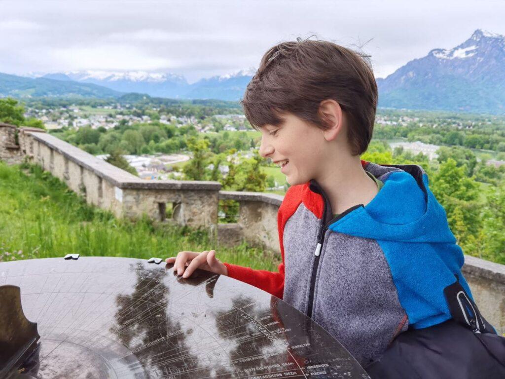 Aussichtskanzel Richterhöhe auf dem Mönchsberg in Salzburg