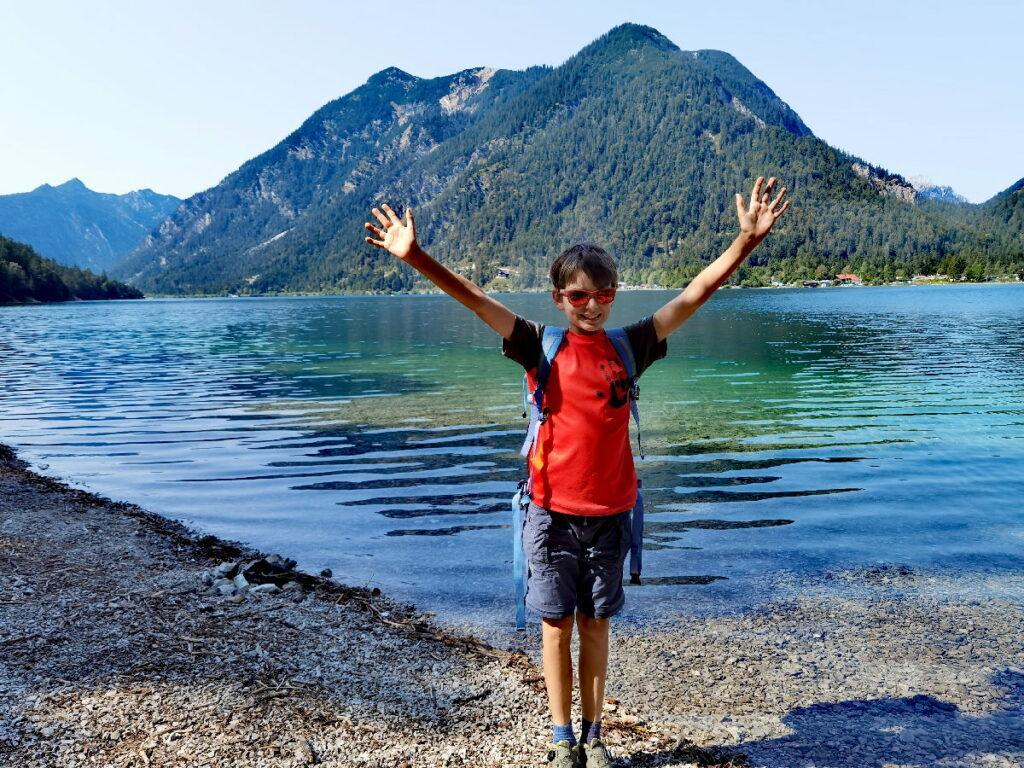 Mountainbiken mit Kindern - die Freude ist groß, wenn das Ziel der Tour erreicht ist!