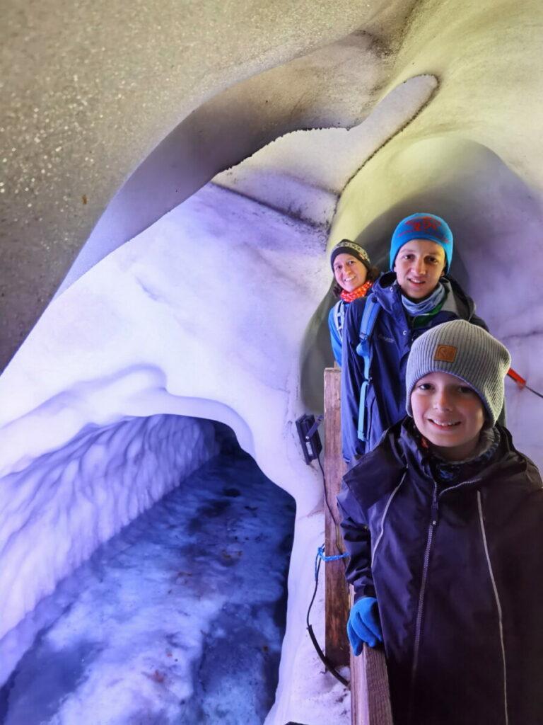 Wunderwelt aus Eis - der Natur Eis Palast im Zillertal