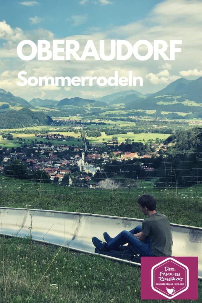 Oberaudorf Sommerrodelbahn -  Unser Ziel am Hocheck in Bayern