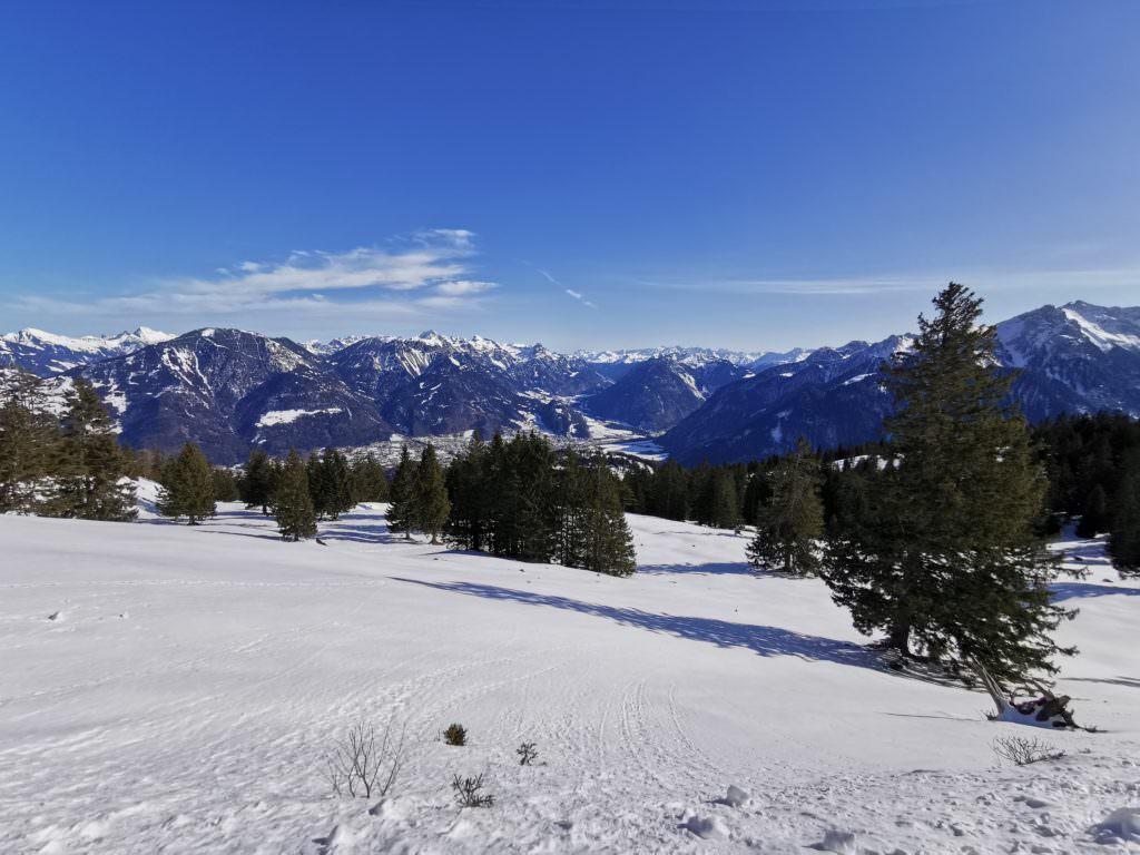 Das Panorama auf der Rodelsafari kurz vor der Furkla Alpe