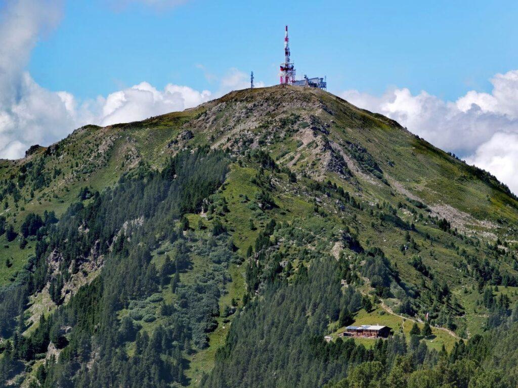 Blick zurück auf den Patscherkofel mit seinem Gipfel
