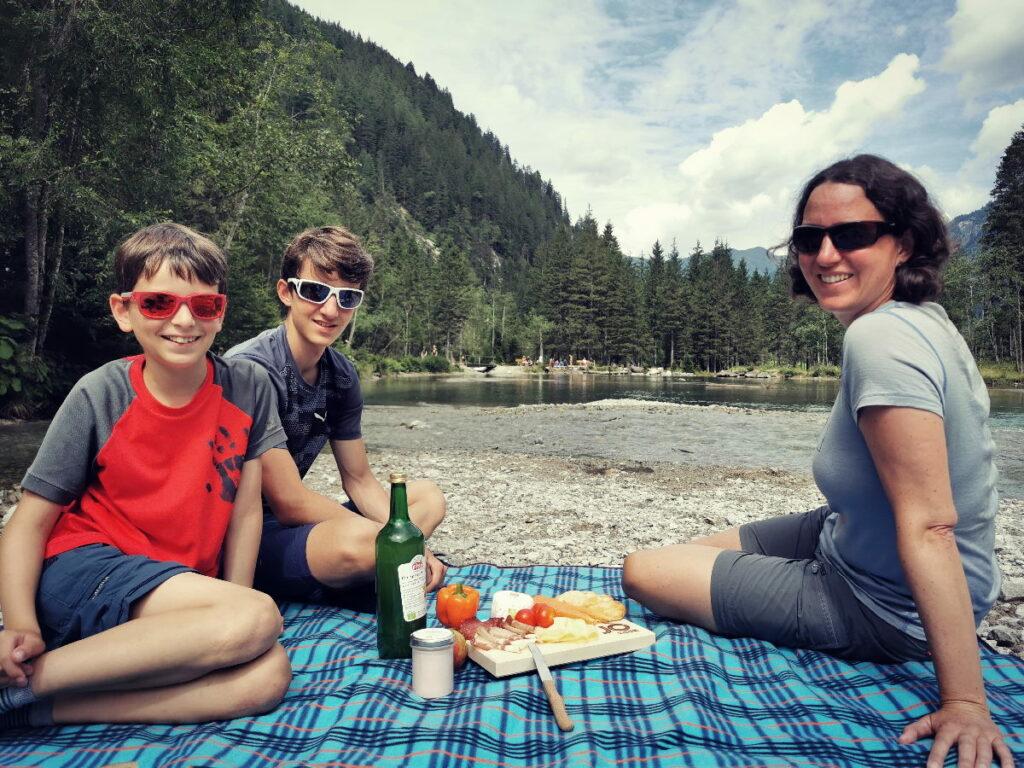 Sehr zu empfehlen - der Picknickkorb vom Tourismusverband St. Johann Salzburg