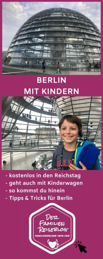 Merk dir einen Pin auf Pinterest - so findest du diese Tipps wieder für deinen Familienurlaub Berlin mit Kindern