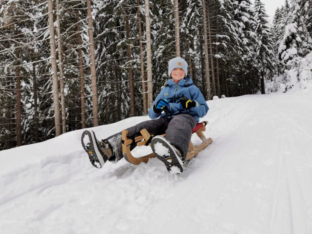Rodelbahn München - am meisten Spaß macht das Rodeln bei Neuschnee