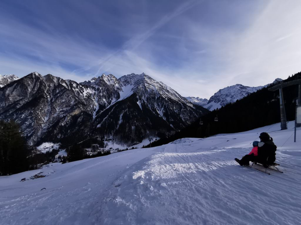 Rodeln mit Lift in Vorarlberg - von Parpfienz nach Brand rodeln