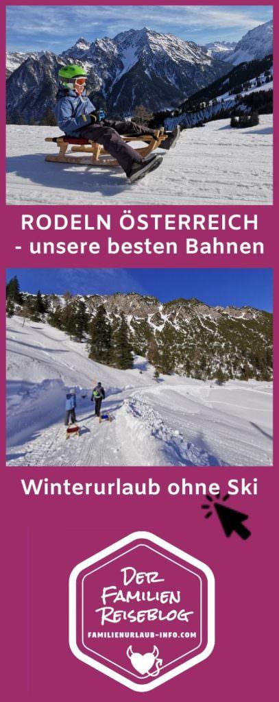 Rodeln Österreich - unsere besten Österreich Rodelbahnen mit Kindern